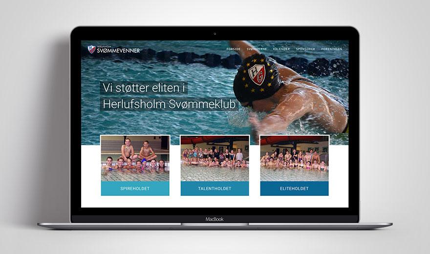 HG Svømmevenner website