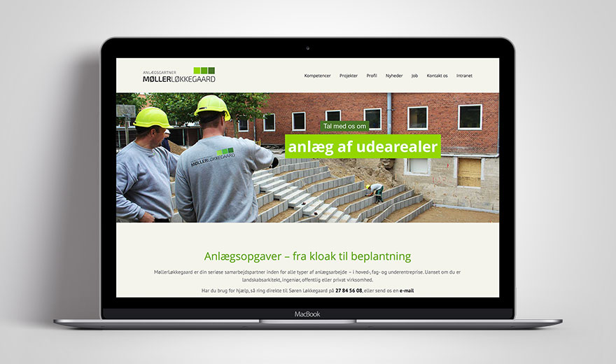 MøllerLøkkegaard website