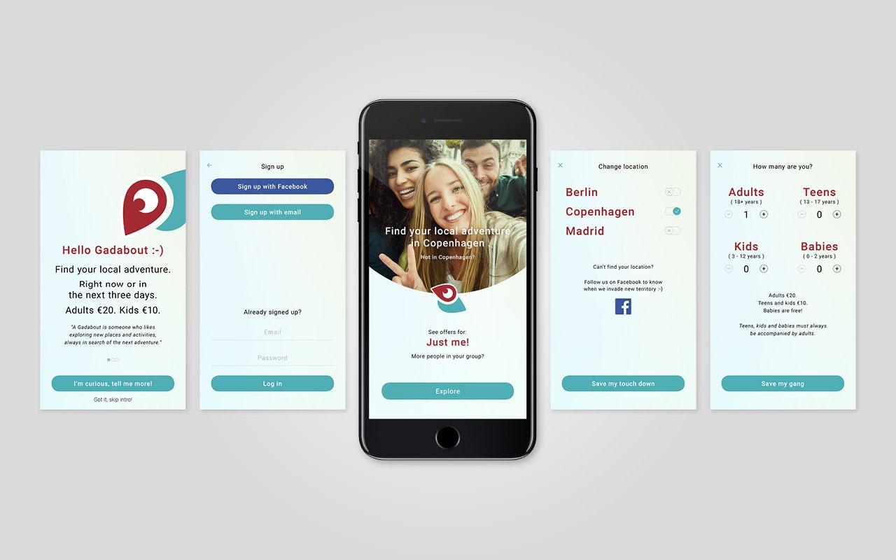 Gadabout app design