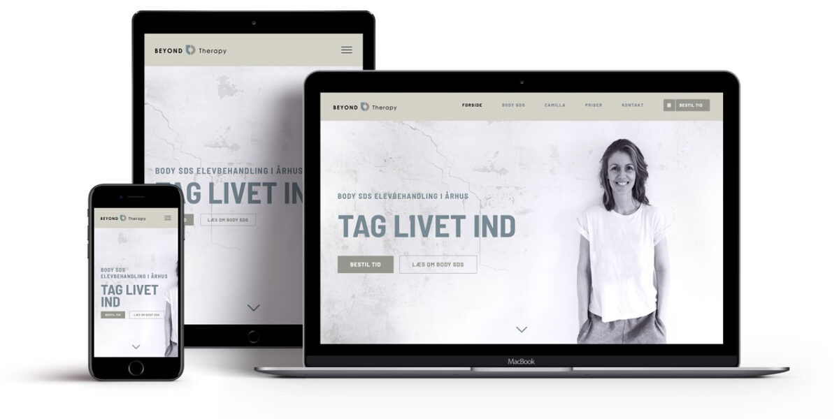 Beyond Therapy website responsive